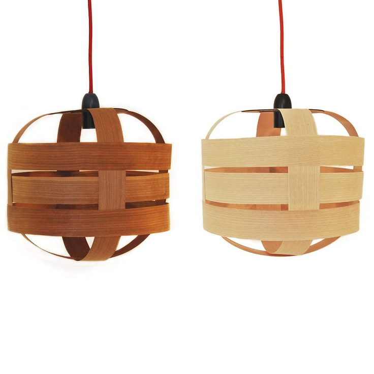 Lantern Lampshades Made From Ash And Cherry Veneer Available At  Www.notonthehighstreet.com/