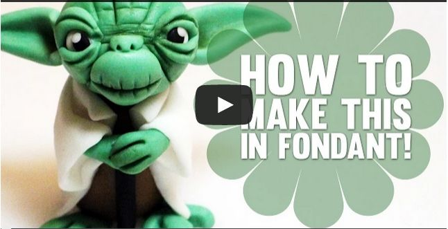 Fondant Cake Toppers #14: How to create Yoda from Star Wars - Cake Topper Tutorial
