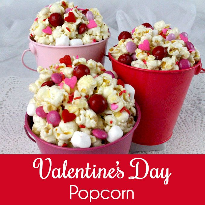 Valentines Day Popcorn is a great Sweet and Salty Popcorn treat - your family will know you love them when you make them this fun Valentines Dessert.