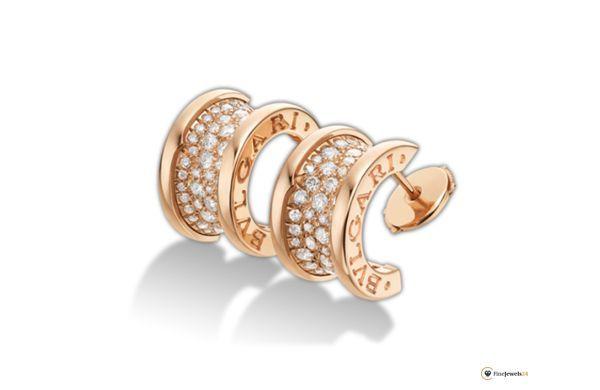 Bzero1 earrings by Bvlgari, rose gold, Trend Roségold, Ohrringe von Bulgari, Bzero1 collection, Brillianten