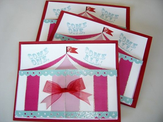 carnival party invites - for girls