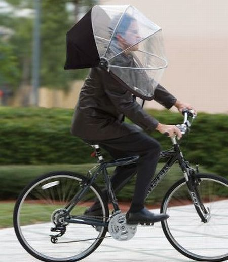 Don't be like this guy...embrace the rain! Come spin with us! #indoorcycling