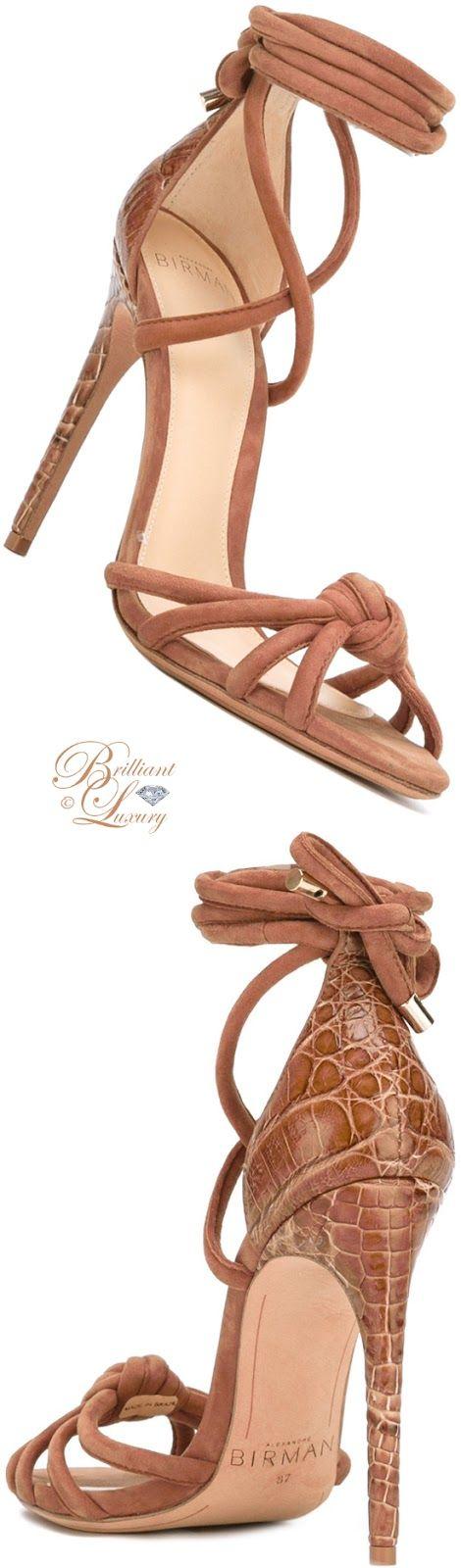 Brilliant Luxury by Emmy DE ♦ Alexandre Birman Lanna Ankle-Wrap Sandals   Supernatural Sty
