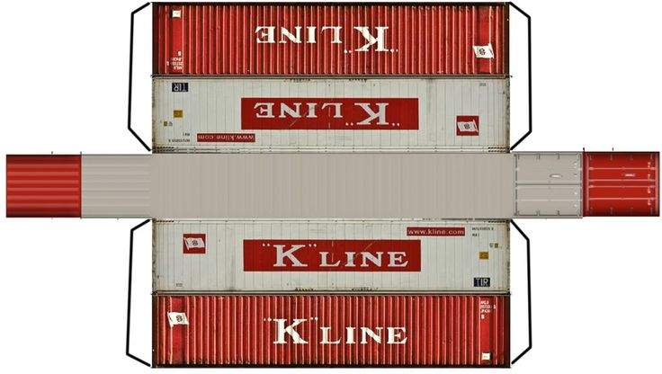 Free Printable N And Ho Scale Paper Containers Page 2