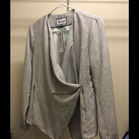 Eden Society for Stitch Fix: NWT Blazer Gorgeous gray and cream blazer, new with tags. This brand designs for stitch fix Jackets & Coats Blazers