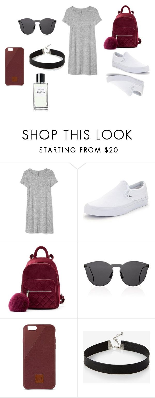 """Daily outfit #2"" by analucia-melendez on Polyvore featuring moda, Gap, Vans, Illesteva, Native Union y Express"