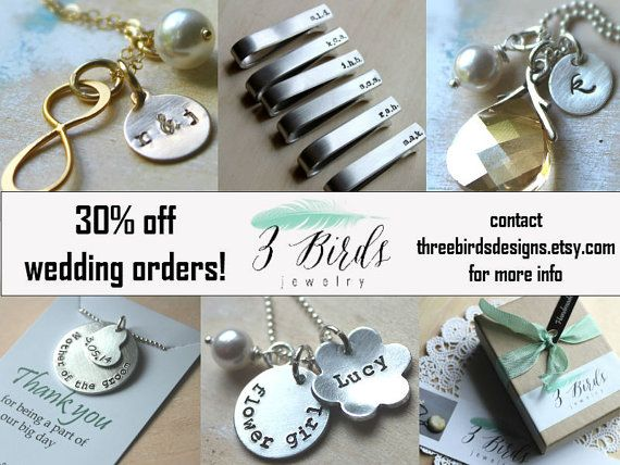Wedding Jewelry Discount. Bridal Party. Bridesmaid. Groomsman. Bride. Groom. Mother of the Bride Groom. Father of the Bride. Flower Girl