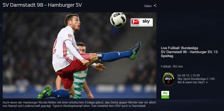 Neue Nachricht: Darmstadt - HSV und Augsburg - Frankfurt: Bundesliga-Sonntag im Livestream schauen - http://ift.tt/2gpExxA #story