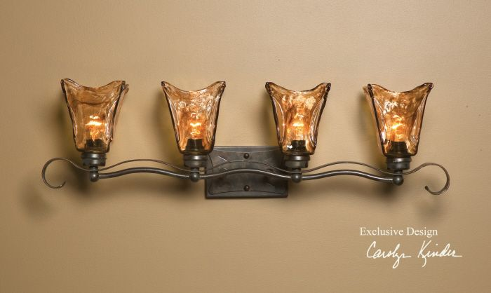 How High Do You Hang Vanity Lights : You can hang these with the shades down. They are in my bathroom. Virtual Tuscan Home ...