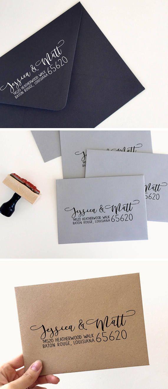 how to return address wedding envelopes%0A Custom Return Address Stamp  Custom Address Stamp  Wedding