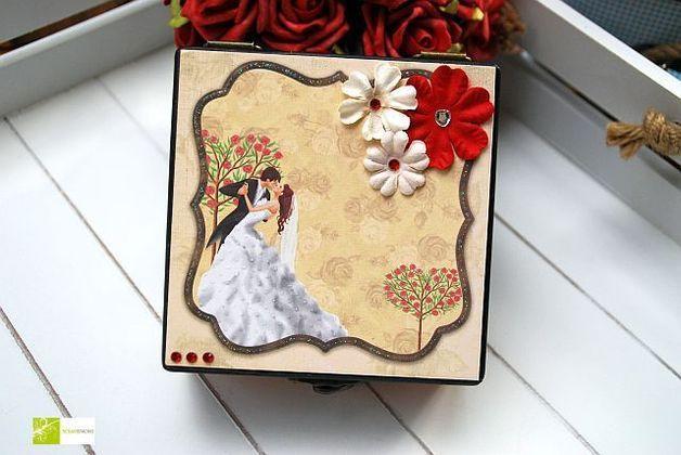 Hochzeitsdeko - Hochzeitstanz- Schmuckbox Schmuckkästchen Schmu - ein Designerstück von scrapistachio bei DaWanda