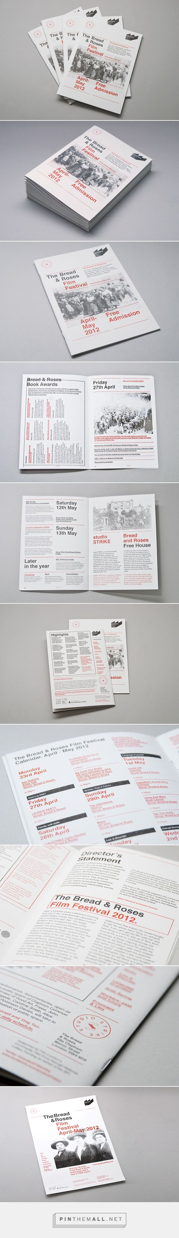 Bread & Roses FIlm Festival London on Behance... - a grouped images picture - Pin Them All