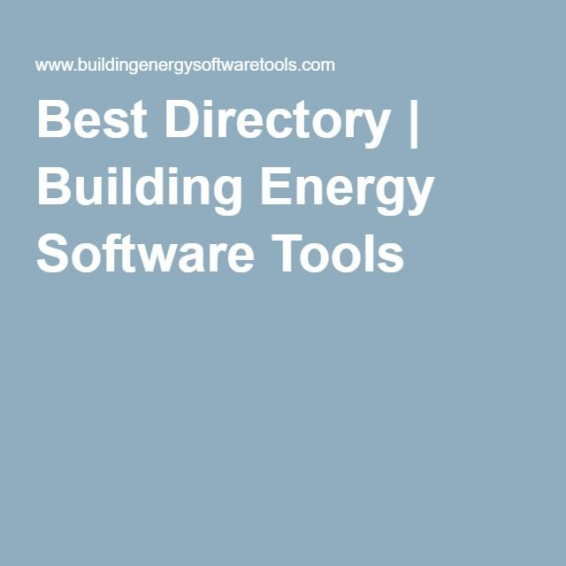 Best Directory   Building Energy Software Tools