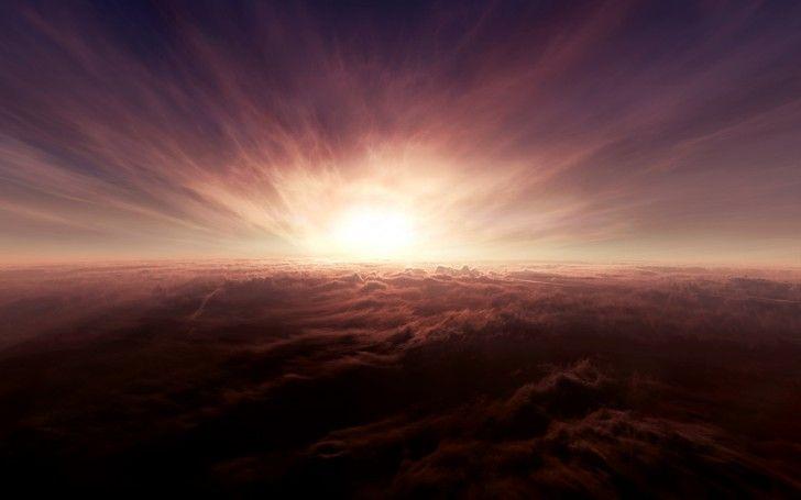 Poweful Sun Light & Clouds wallpapers