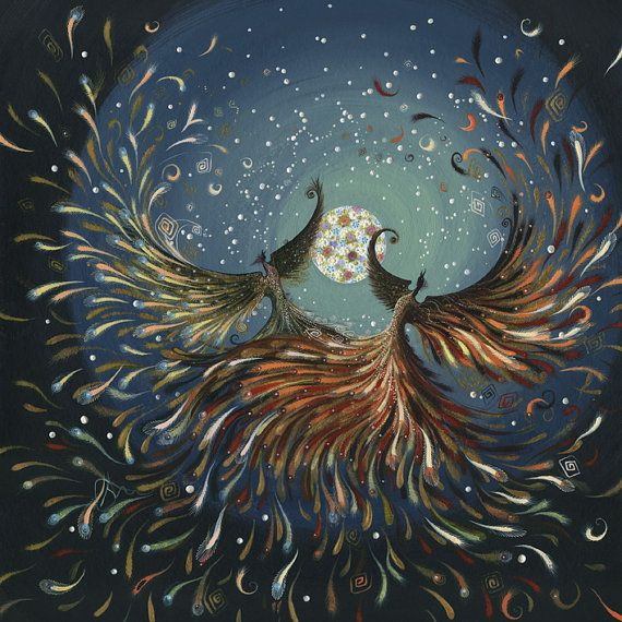 The Firebirds and the Flowermoon. Inspired by the by KateFensom, £17.50