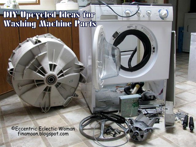Eccentric Eclectic Woman: DIY Upcycled Ideas for Washing Machine Parts