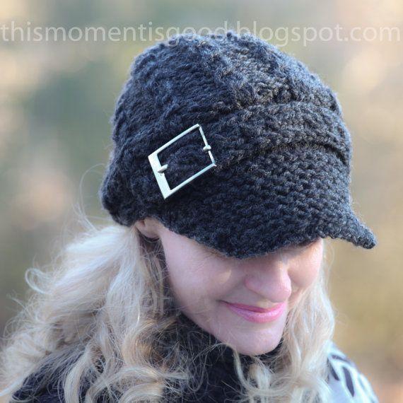 Cable Knit Newsboy Cap Pattern Quest Hat Discount