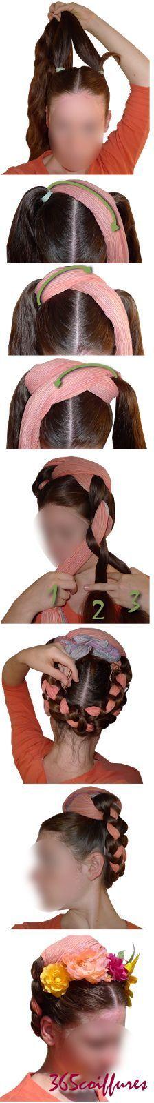 Comment se coiffer avec les tresses de Frida Kahlo. #tuto #DIY #tresse #hairstyle #fridakahlo #braid #trenza #Zöpfe