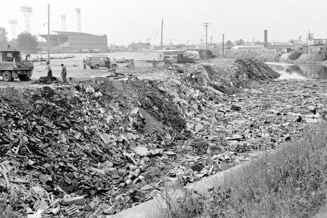 La rivière Saint-Charles en 1962