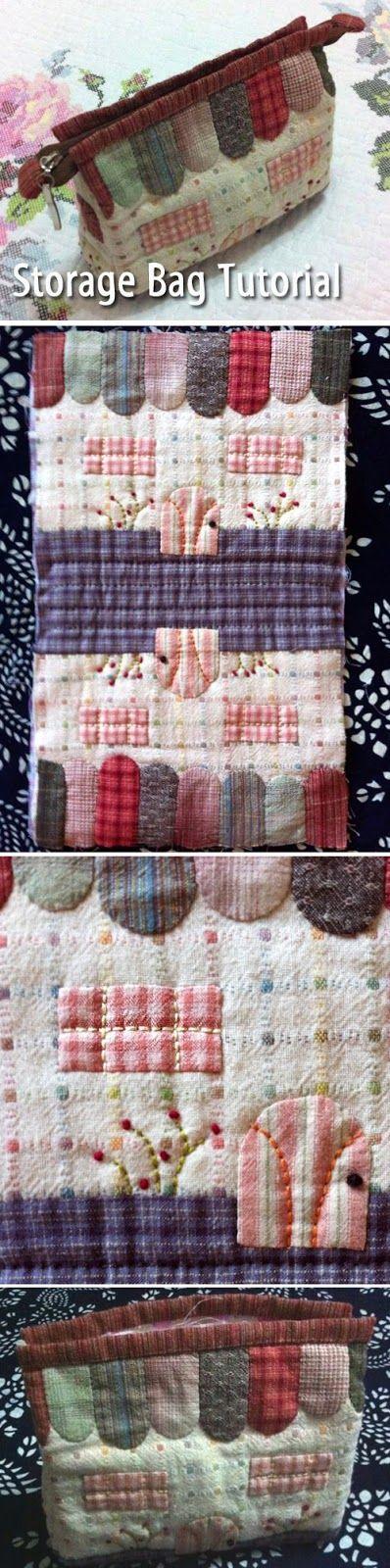 Necessaire -   http://www.handmadiya.com/2015/08/storage-bag-little-house-patchwork.html