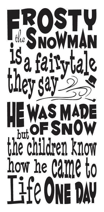 Primitive Christmas/Holiday STENCILFrosty the by OaklandStencil