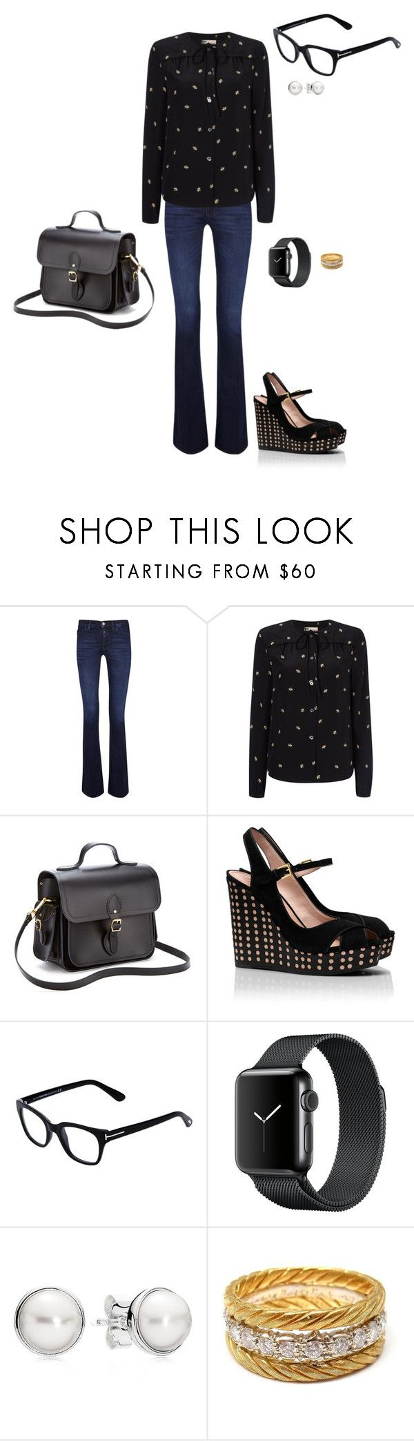 """""""Sem título #2149"""" by analuli on Polyvore featuring moda, M.i.h Jeans, Boutique by Jaeger, The Cambridge Satchel Company, Tory Burch, Tom Ford, Pandora e Buccellati"""