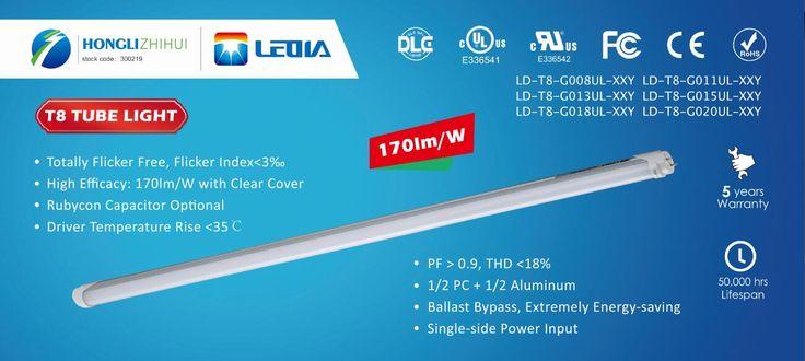 New Efficacy LED T8 Tube