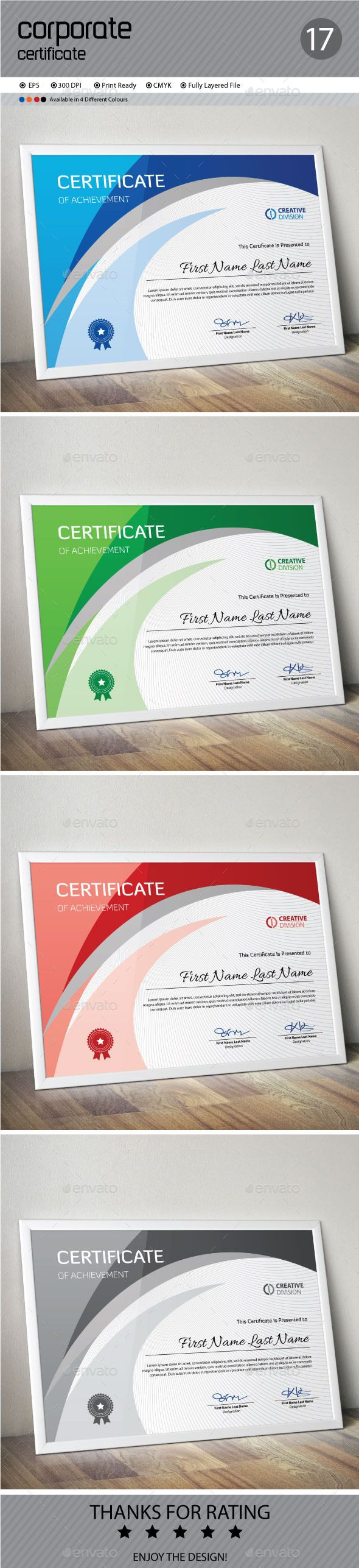 Certificate Template Vector EPS. Download here: http://graphicriver.net/item/certificate/12598914?ref=ksioks