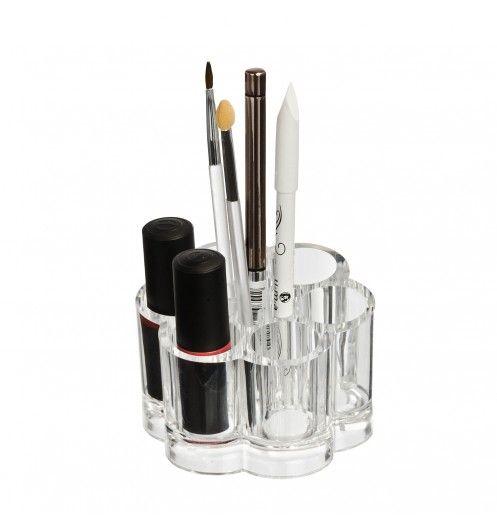 Rangement maquillage pour les rouges à lèvres et les crayons: http://www.deco-et-saveurs.com/rangement-salle-de-bain/4584-boite-rangement-maquillage-ronde-wenko-4008838209882.html