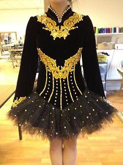 Irish Dance Solo Dress Costume. I would make the middle black partthe batman symbol. :D
