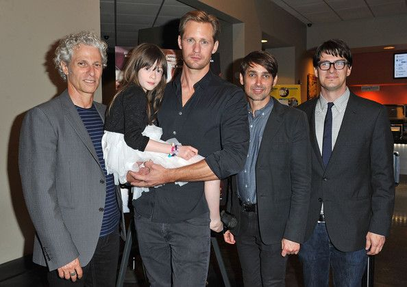 """Alexander Skarsgard Photos - Co-director David Siegel, actors Onata Aprile and Alexander Skarsgard, co-director Scott McGehee and LA Times writer Mark Olsen attend the LA Times Indie Focus Screening of """"What Masie Knew"""" at Laemmle NoHo 7 on May 16, 2013 in North Hollywood, California. - 'What Masie Knew' Screening in North Hollywood"""