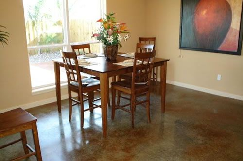 Want: Interior Concrete Floor  (my out-dated grouted tile nastiness is driving me crazy)
