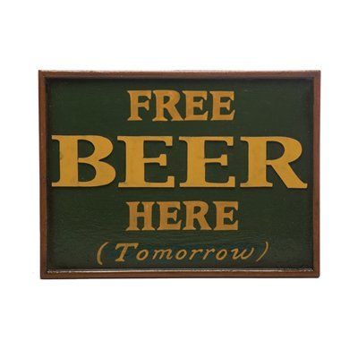 RAM Game Room R194 Free Beer Sign