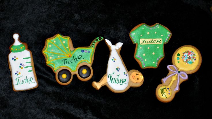 Baby boy cookie favors