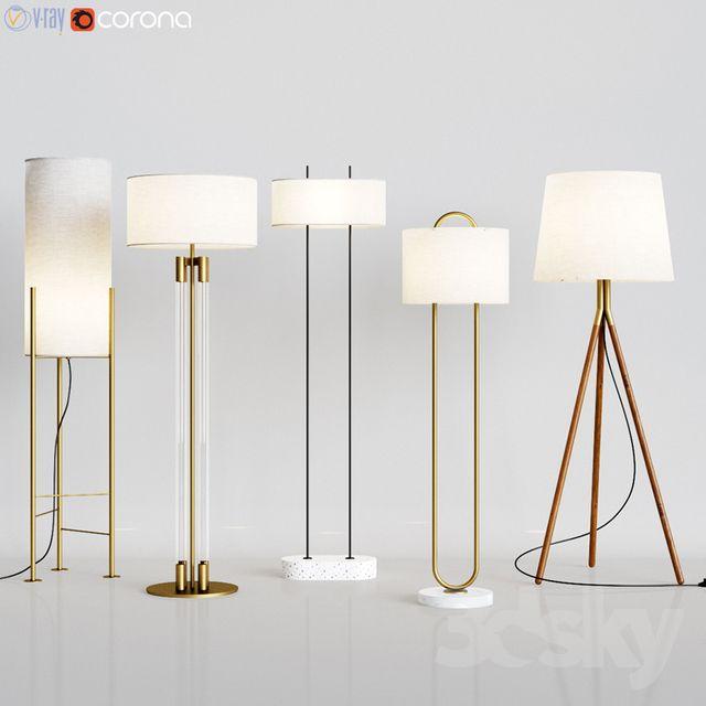 Cb2 5 Floor Lamps Set 1 Avizeler Aydinlatmalar Retro