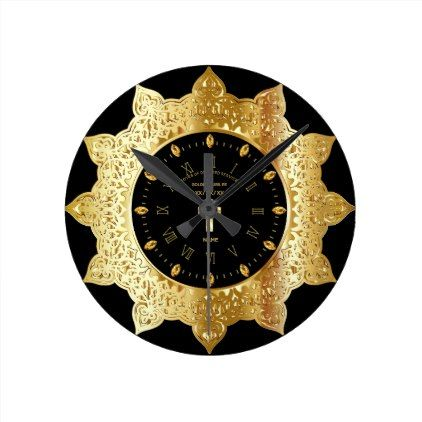 Priest 50th Golden Jubilee Gold Personalized Clock - anniversary cyo diy gift idea presents party celebration