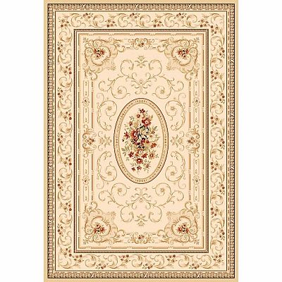 Traditionally decorated Persian carpet 'Yellow Hali' rug