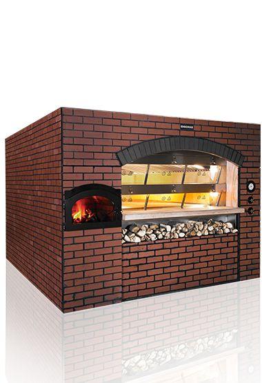 Modern Kara Fırın - 8 m2 Pişirme Alanı Pişirme Bölgesi Yüksek Basınçta Test Edilmiş Borularla Çevrili Klasik Görünümde Profesyonel Pişirme Isıya Dayanıklı Refrakter Malzeme İle Kaplı Maksimum Isı Değeri 300 °C İki Katlı Ergonomik Tasarım Gaz veya Dizel Yakıt ya da Pelet Kullanım Özelliği Buhar Verme Özelliği