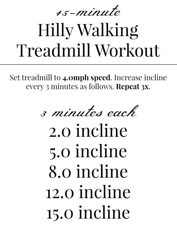 45-minute Interval Treadmill Workout via (@hillontherun) #POPSUGARSelect