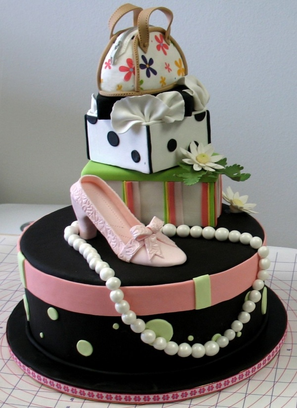 Best Th Birthday Cake Images On Pinterest Beautiful Cakes - Purse birthday cake ideas