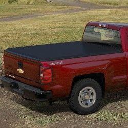 "2016 #Silverado 2500 Soft Folding #Tonneau Cover, 6' 6"" Bed, Black Gloss: This Soft Folding Tonneau Cover is constructed of durable, lightweight black grained vinyl to help protect truck bed cargo from the elements. The tri-fold design allows for quick and easy installation and removal."