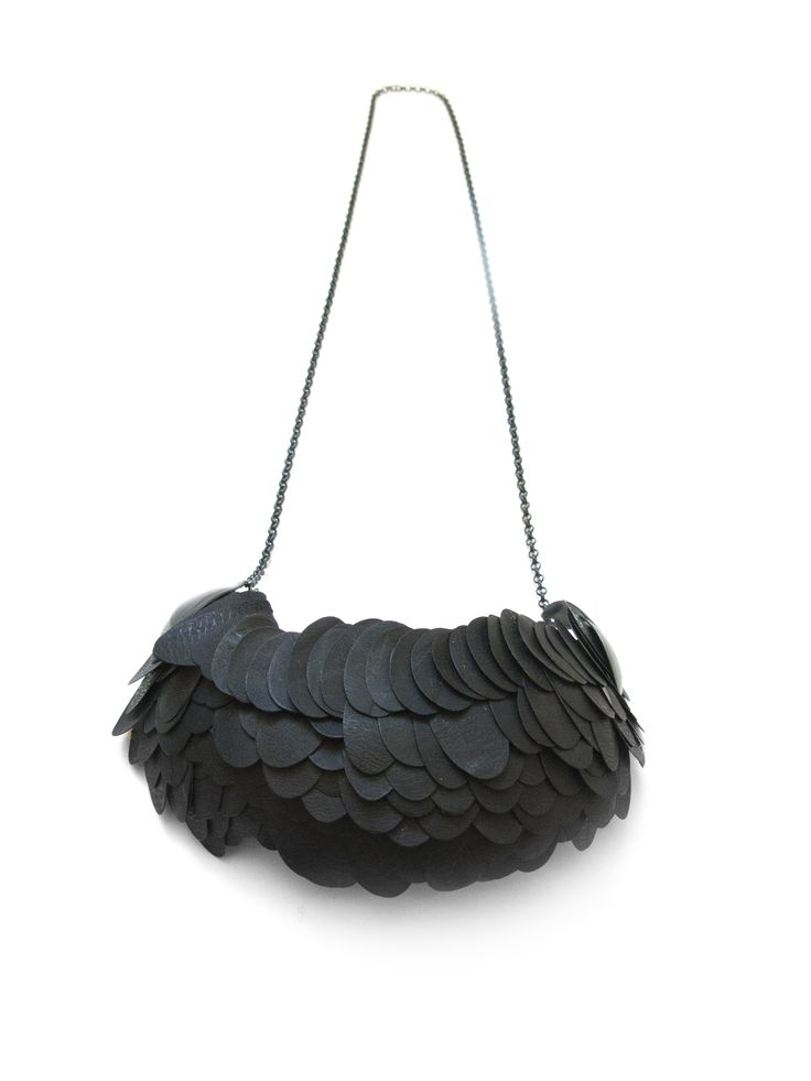 Catching Big Fish, necklace, recycled plastics, silver, textile. Karin Roy Andersson 2013