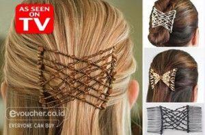 Ez Comb Aksesoris Rambut Yang Membuat Rambutmu Tetap Rapih & Memiliki Tampilan Istimewa Hanya Rp.29,000 - www.evoucher.co.id #Promo #Diskon #Jual  Klik > http://www.evoucher.co.id/deal/Ez-Comb-Aksesoris-Rambut  Aksesoris rambut yang sangat cocok untuk semua jenis rambut dan penggunaannya juga sangat mudah. Dalam sekejap gaya rambut anda akan menjadi istimewa dan akan menjaga rambut anda tetap rapih meskipun anda melakukan aktivitas.  pengiriman mulai 2014-04-03