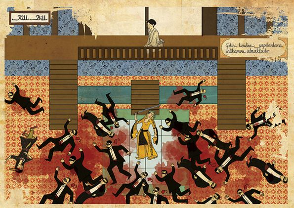 KillBill in the Ottoman style by Murat Palta on Juxtapoz