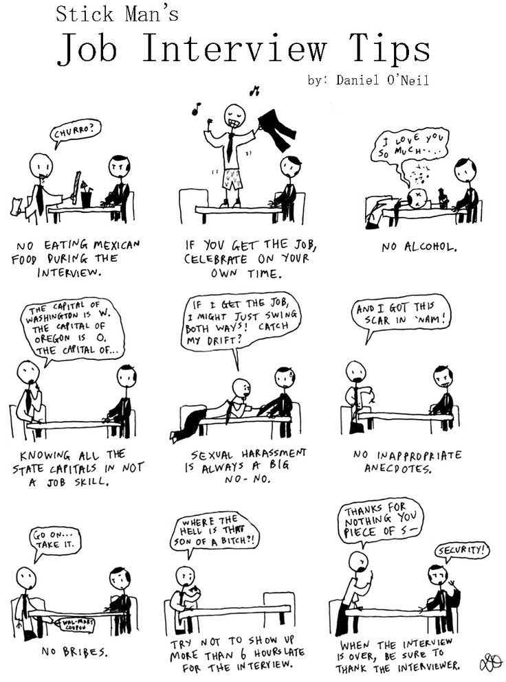 Stick Manu0027s Job Interview Tips by StickManJr Funnies- Job - job interview tips