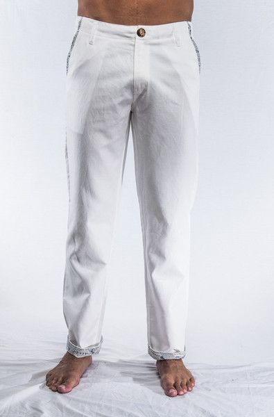 Bring me some color and this white linen trouser with trim suddenly says own me!! Standard leg.