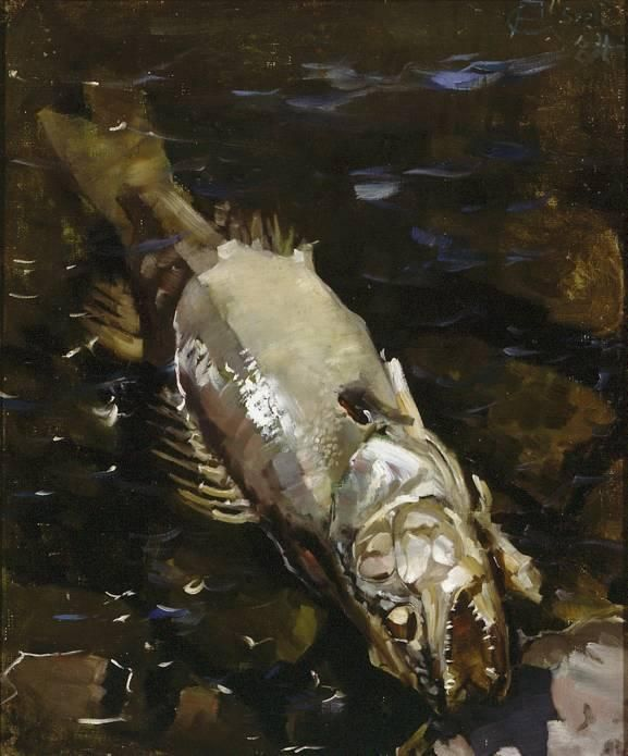 Decaying fish, Oil by Akseli Gallen Kallela (1865-1931, Finland)