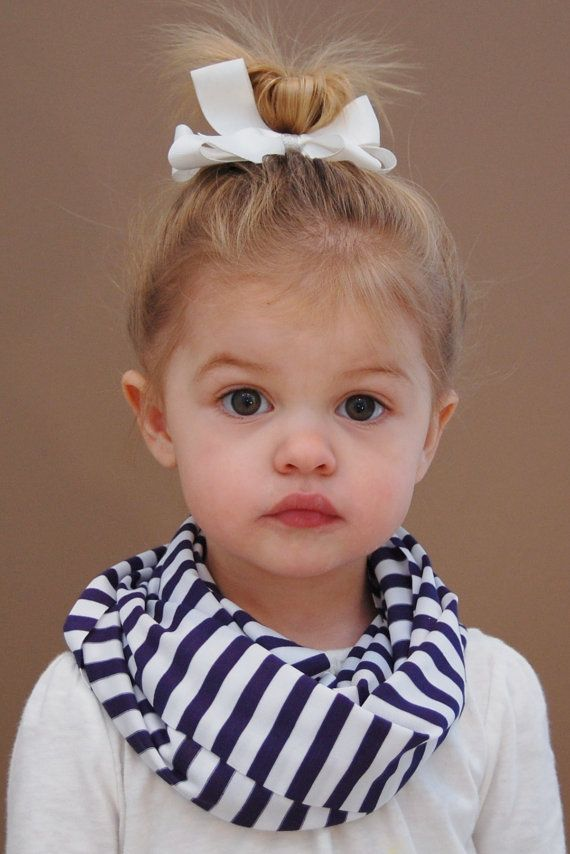 Navy and White Striped Toddler Infinity Scarf by BundleUpBuddy
