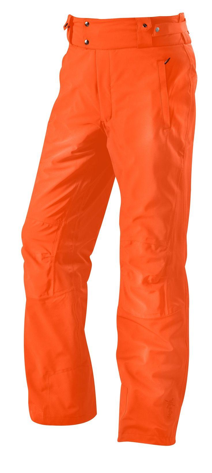 Pantalon de ski homme Slope Degré 7 orange néon