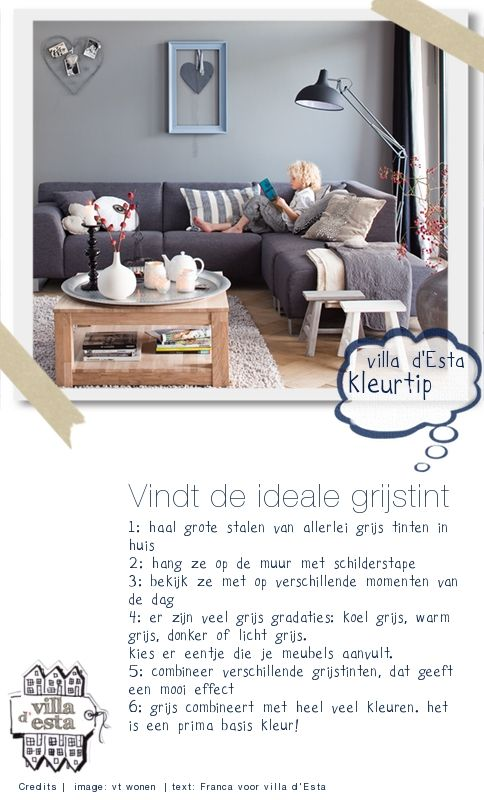 Een grijze muur saai? Nee hoor! | villa d'Esta | interieur en wonen